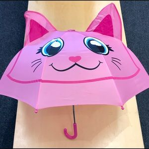 KIDS KITTY CAT UMBRELLA